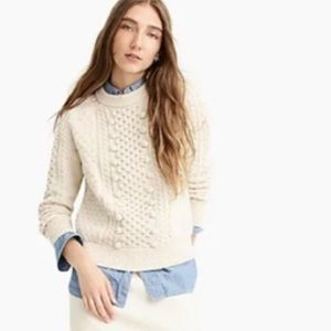J.Crew | Popcorn Cable Knit Sweater